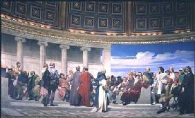 Hemicycle: Artists of All Ages, detail of Ictinus, Apelles and Phidias