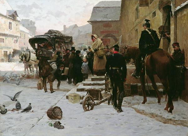 Boule de Suif - Paul Emile Boutigny en reproduction imprimée ou copie  peinte à l'huile sur toile