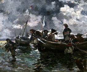 War scene at sea