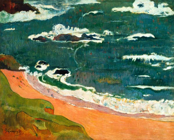 Titre de l'image : Paul Gauguin - Plage à Le Pouldu. (Collection ...
