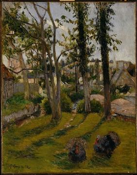 The Turkeys (Pont Aven Landscape) 1888