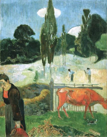 Titre de l'image : Paul Gauguin - La vache rouge