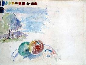 Study of Fruits and a Landscape