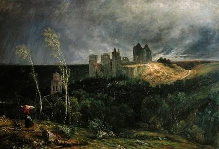 Paul Huet - The Ruins of Chateau de Pierrefonds