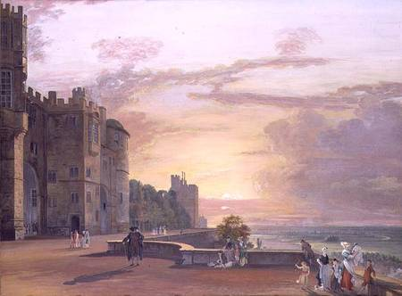 Windsor Castle North Terrace Looking We Paul Sandby
