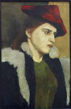 Woman w.Red Hat
