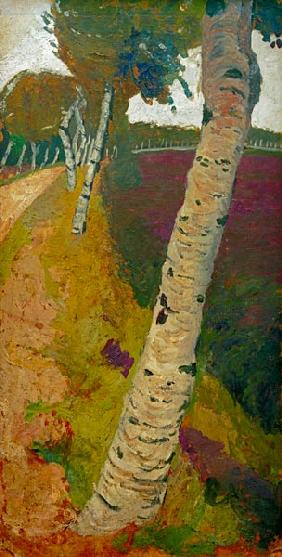 Modersohn-Becker, Paula : Road with birch tree