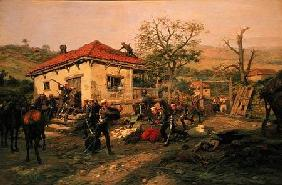 A Scene from the Russian-Turkish War in 1876-77