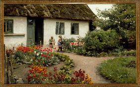 Reading in the Flower Garden