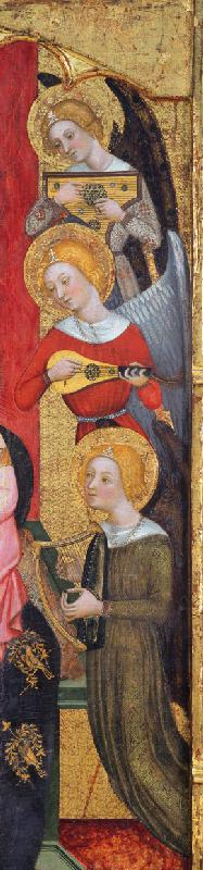 Madonna with Angels Playing Music (Detail)