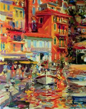Reflections, Villefranche, 2002 (oil on canvas)