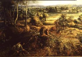 Rubens, Peter Paul : An Autumn Landscape with a...