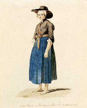 étude de costume : Anna Stockerin des Rimsting au Chiemsee