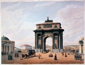 The Triumphal Arch at Tver Gates in Moscow