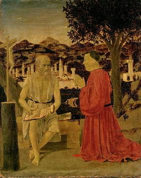 St. Jerome and a Devotee, c.1450 (tempera on panel)