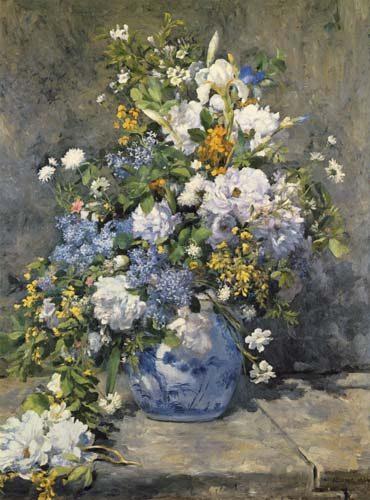 Grand vase avec fleurs
