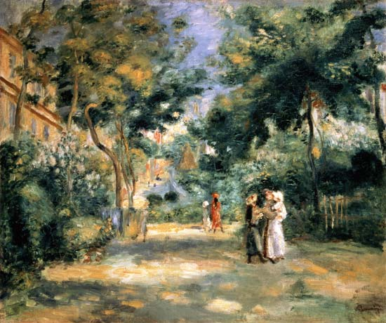 les jardins de montmartre pierre auguste renoir artiste peintre fran ais. Black Bedroom Furniture Sets. Home Design Ideas