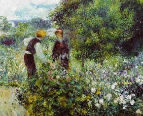 Renoir / Picking flowers / 1875