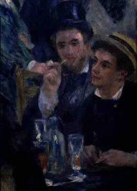 Ball at the Moulin de la Galette, detail of two seated men