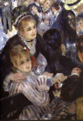 Ball at the Moulin de la Galette, detail of two seated women