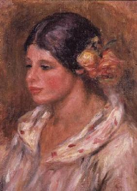 Girl with Roses in her hair