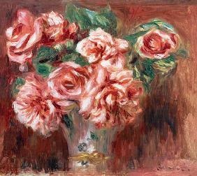 Pierre Auguste Renoir Roses In A Vase