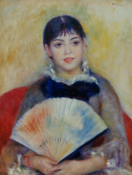 Renoir / Woman with fan / c.1880