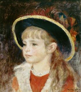 Portrait of a Young Girl in a Blue Hat