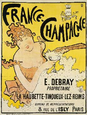 Poster advertising France Champagne