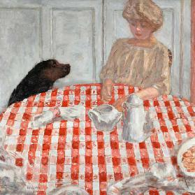 The red-chequered Tablecloth or The Dog's Dinner 1910