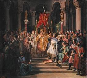 Philip Augustus (1165-1223) King of France Taking the Banner in St. Denis, 24th June 1190
