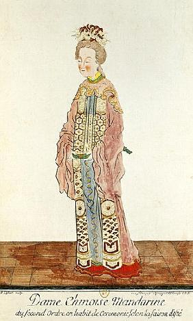 Portrait of a Mandarin Woman of the Second Order Wearing a Summer Ceremonial Costume, from ''Estat P