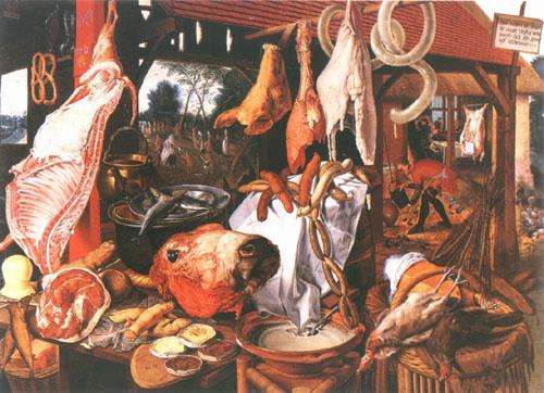 The butcher shop pieter aertzen - Magasin reproduction tableau paris ...