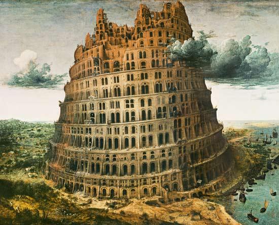 Tower making to Babel II - Pieter Brueghel d. Ä. en reproduction imprimée ou copie peinte à l ...