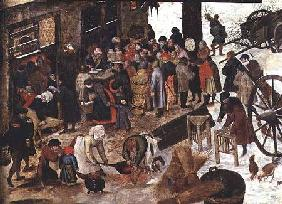 The Payment of the Tithe, or The Census at Bethlehem, detail
