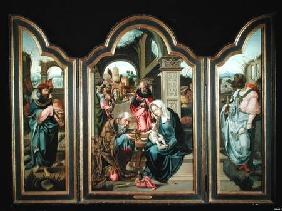 Triptych depicting the Adoration of the Magi