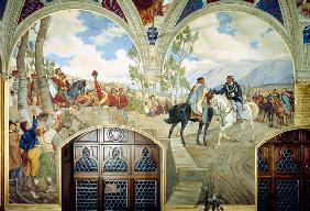 The Meeting Between Giuseppe Garibaldi (1807-82) and King Vittorio Emanuele II (1820-78) on the 26th