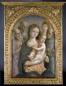 The Virgin and Child with SS. Jerome, Bernardino of Siena, Catherine of Alexandria and Francis, 15th