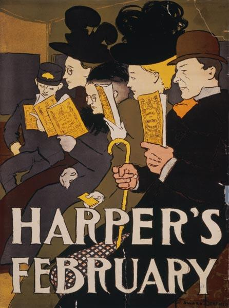 Harper s February, d'Edward Penfield