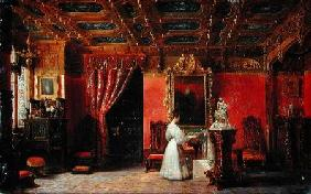 Princess Marie d'Orleans (1813-39) in her Gothic Studio in the Palais des Tuileries