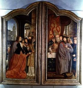 The Holy Kinship, or the Altarpiece of St. Anne, detail of the right panel depicting the Death of St