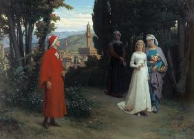 First meeting of Dante and Beatrice