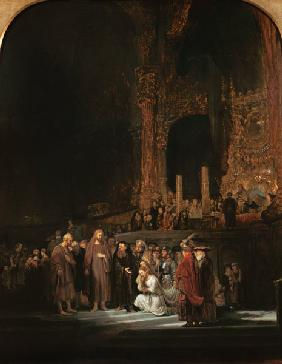 Rembrandt / Christ and the Adultress