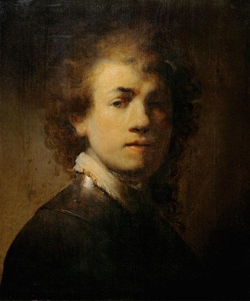 Rembrandt / Self-portrait with Gorget