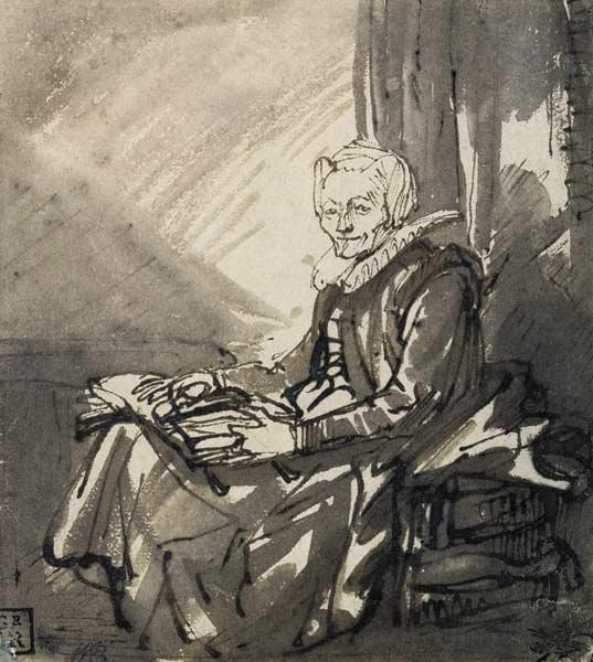 Woman with an Open Book on her Lap