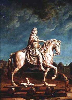 Transporting the Equestrian Statue of Louis XIV from the Workshop at the Convent of the Capucines in
