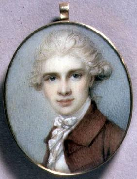 Portrait Miniature of a Young Man in a Brown Coat