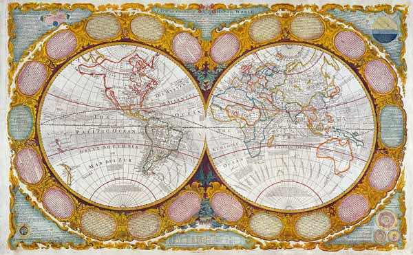 A New and Correct Map of the World, 1770-97