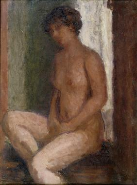 Seated Nude Against the Light