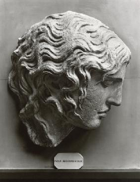 Head of a sleeping fury or Medusa dying